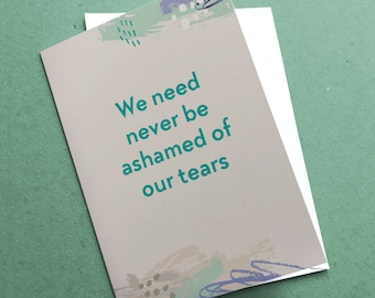 Charles Dickens quote A6  card | sympathy card | Great Expectations | book lover card