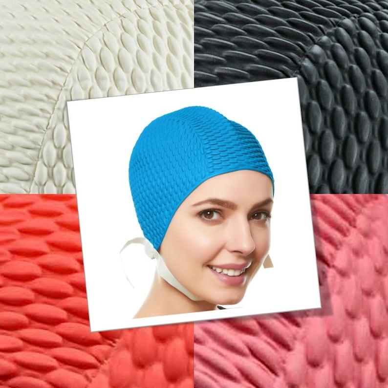 dd4b18eb8b0 Beemo Swim Bathing Caps for Women or Girls Retro Style Latex | Etsy