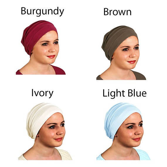 8a2ba583444 Slouchy Turban Hat Chemo Cap For Cancer Patients Comfort