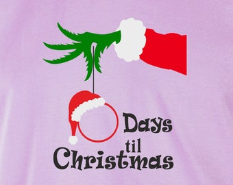 Days To Christmas.Days Till Christmas Etsy