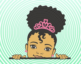 Little Black Girl Svg Etsy