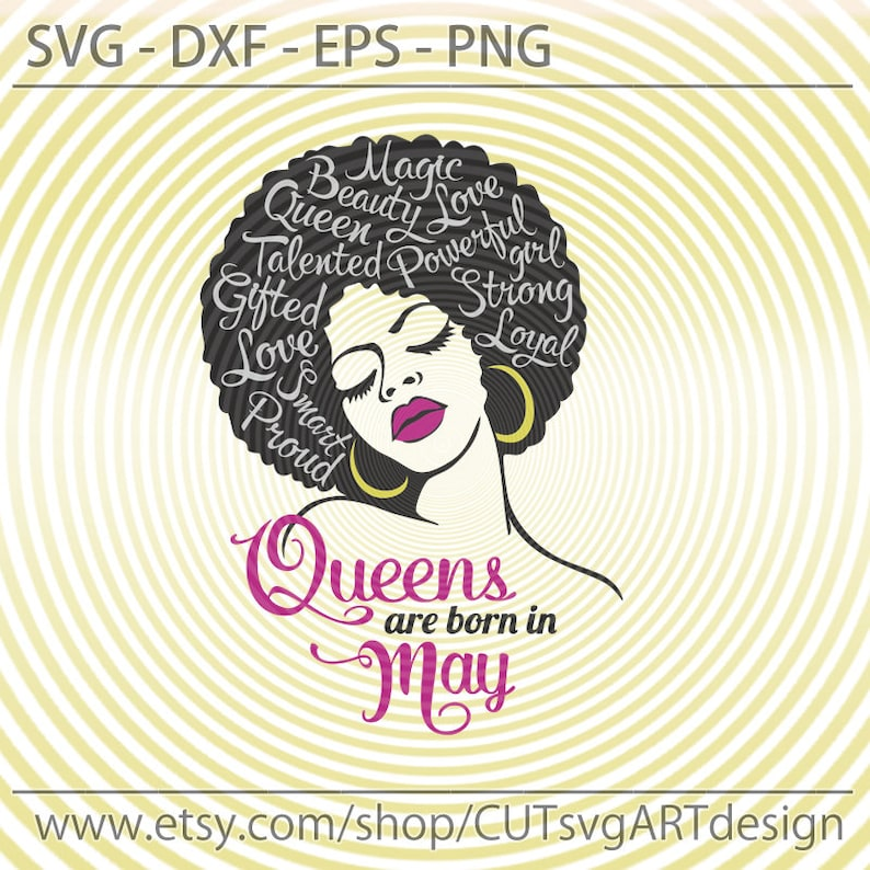Cdr Dxf digital download cut files for Cricut Birthday queen SVG Queens are born in May SVG Vector image Eps Silhouette Png
