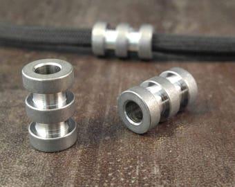 Titanium Lanyard Bead, Stonewash, EDC Gear/Knife Accessories