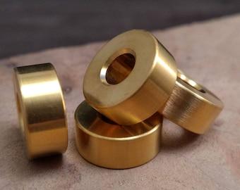 Titanium Lanyard Bead, Gold PVD, EDC Gear/Knife Accessories