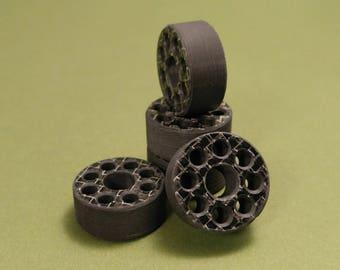 Lanyard Bead Carbon Fiber -Silver Silk
