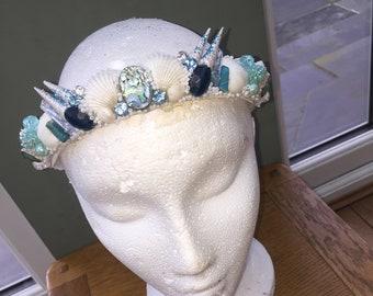 Blue Under the sea mermaid Crown