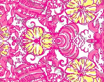055101a82288fc Chum Bucket Lilly Pulitzer Inspired Printed Vinyl by CSDS Vinyl