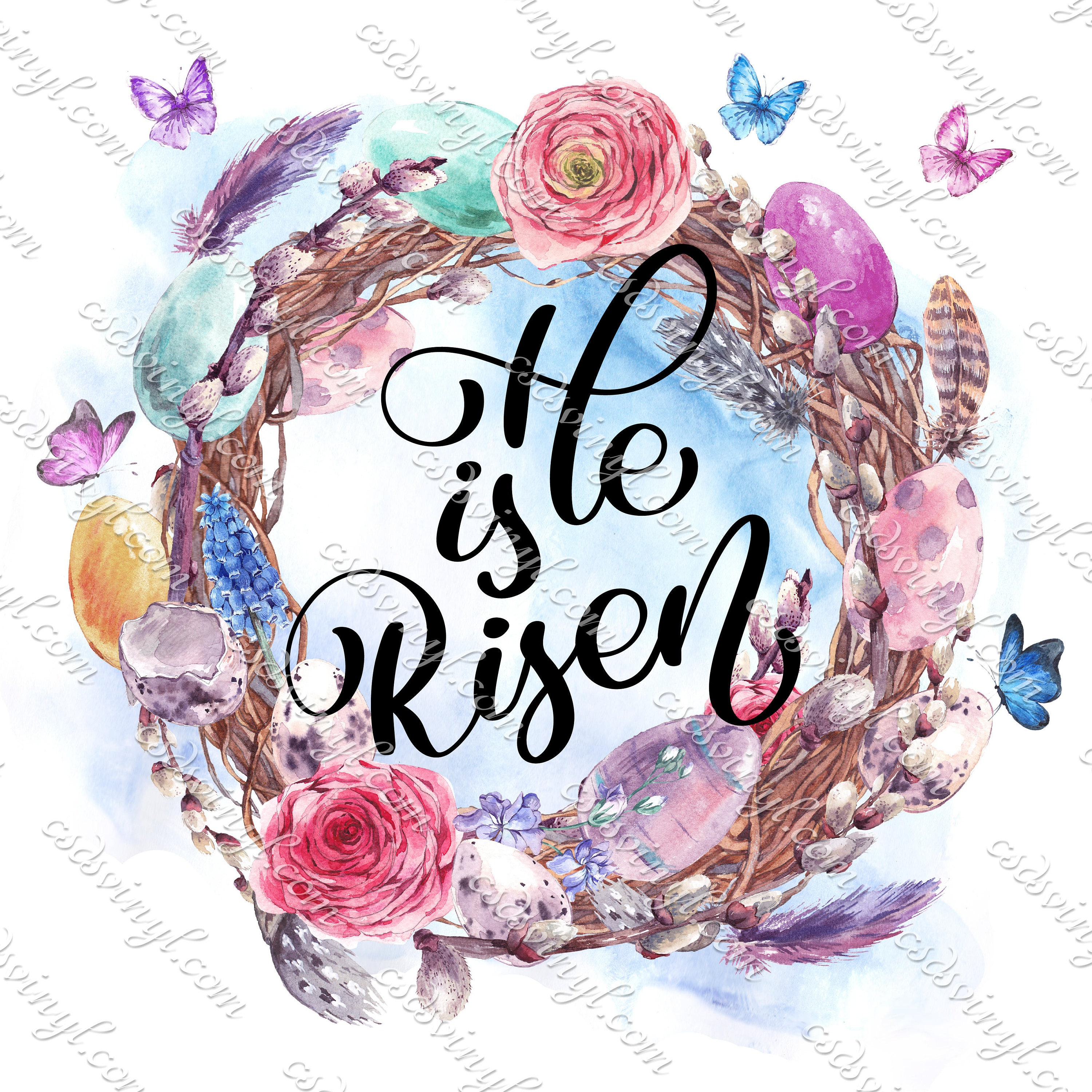 510ca373b04cb He Is Risen Sublimation - Ready To Press Iron-On - Easter Risen Image  Transfer - Easter He Is Risen - Faith Tshirt Transfer - SUB0012
