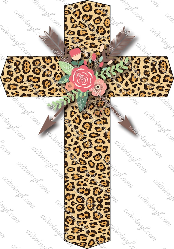 Ready To Press Transfer Saints Retro Leopard Print Sublimation Heat Press Design