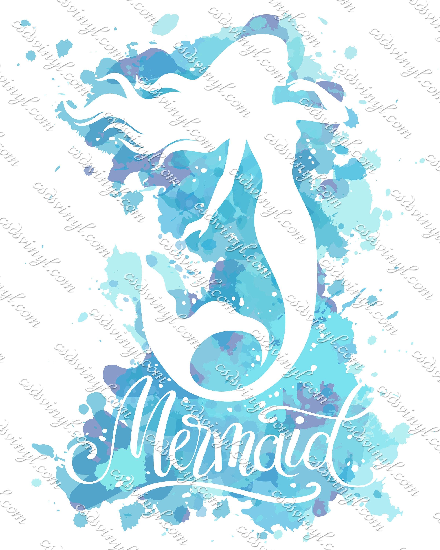 cotton heat transfer mermaid monogram t-shirt transfer mermaid print scallop monogram customized sublimation transfer