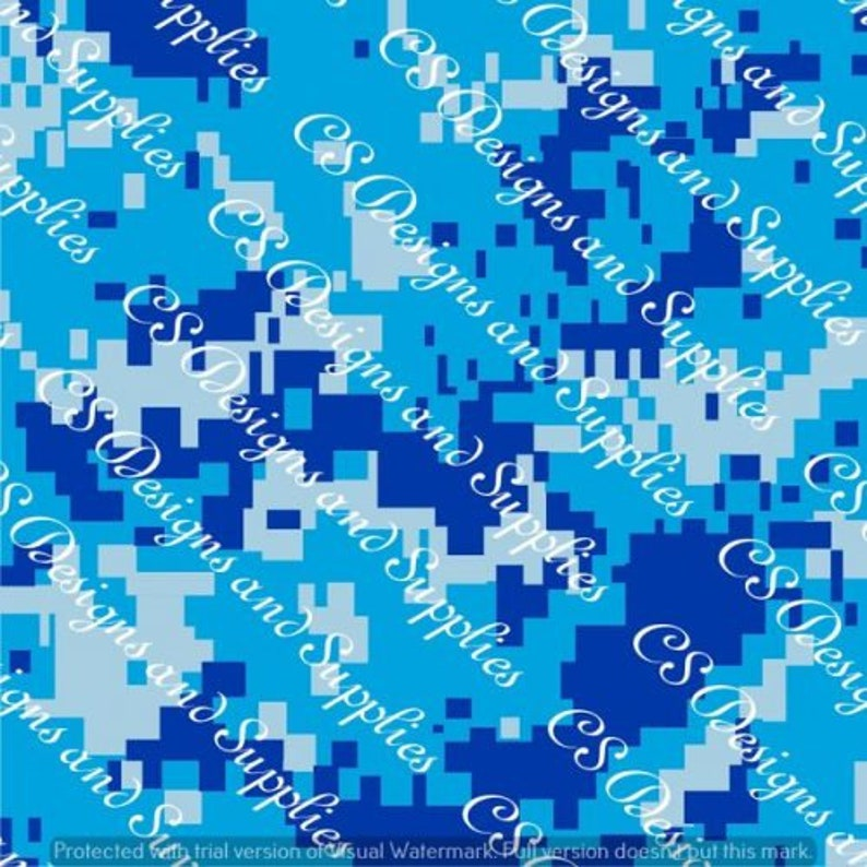 "Iron On Heat Transfer Vinyl HTV 12/"" Sky Blue Genuine Realtree Camo Printed"