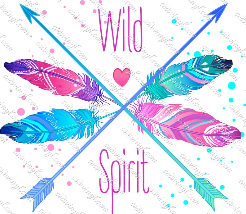 7111f1c90f7bb Wild Spirit Sublimation Transfers, Arrow Transfer, Feather Transfer, Wild  Spirit Feather Sublimation, Watercolor Image Transfer, SUB0107