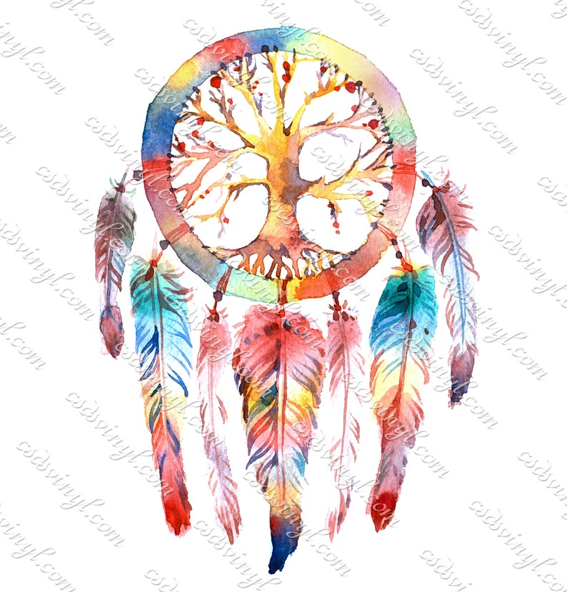 2c4c6b118760b Rainbow Dream Catcher Sublimation Transfers, Feather Dream Catcher, Dream  Catcher Shirt Design, Watercolor Heat Transfer, SUB0053