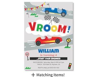 Printed Invitations - Race Car