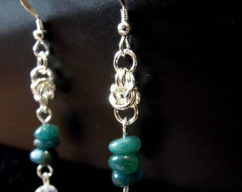 Byzantine Apatite earrings