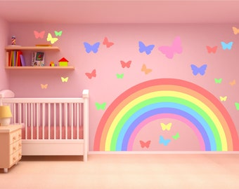 Rainbow wall decal | Etsy