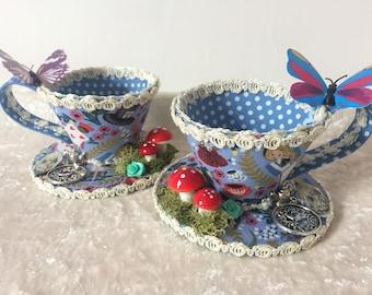 Alice im Wunderland inspiriert Teetasse Fascinator