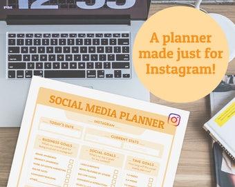 Social Media Planner | Business planner insert, marketing planner, blog planner, online business planning, social media, printable planner
