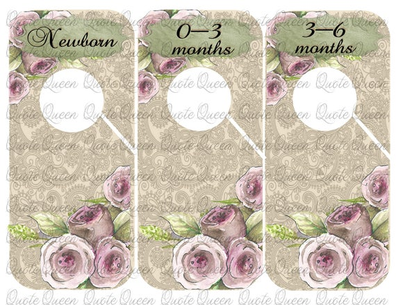 Merveilleux 9 Roses Closet Dividers Baby Clothes Dividers. Nursery Closet | Etsy