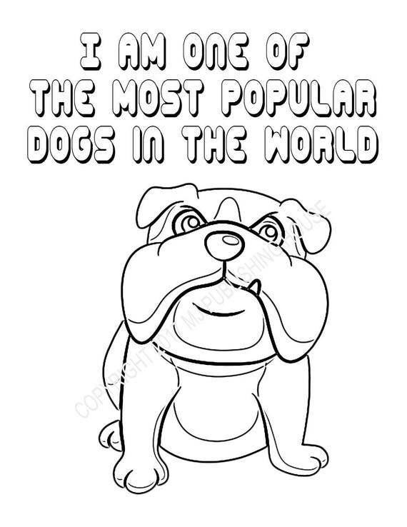 English Bulldog Coloring Pages-Bundle 1 5 Pages-Dog Breed Etsy