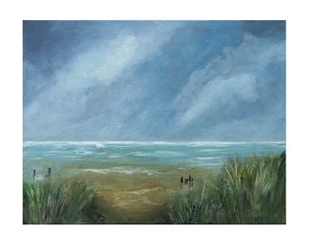 Rainy Beach Acrylic painting