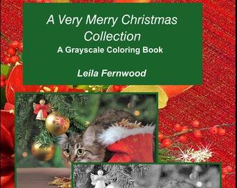 PDF Download Of A Very Merry Christmas Collection Grayscale Coloring Book