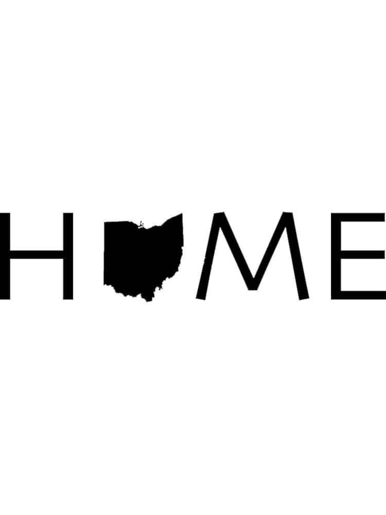 Ohio Home Vinyl Die Cut Decal Sticker
