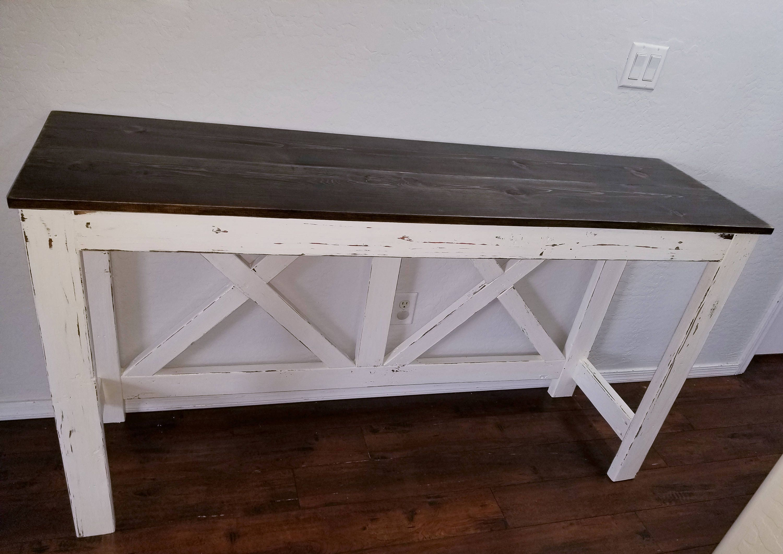 Distressed Sofa Table