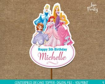 Princess invitation print yourself, Princess birthday invitation, Princess party invitation, Princess Party printables