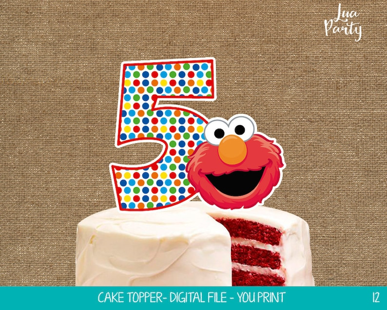 Elmo Cake Topper Print Yourself Birthday Centerpiece