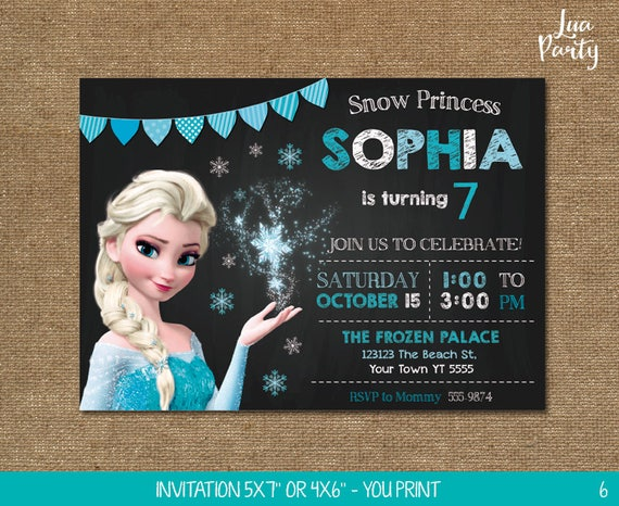 Frozen Invitation Print Yourself Birthday