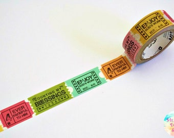 Illustrated Faith Delight In His Day Ticker Tape Washi Tape