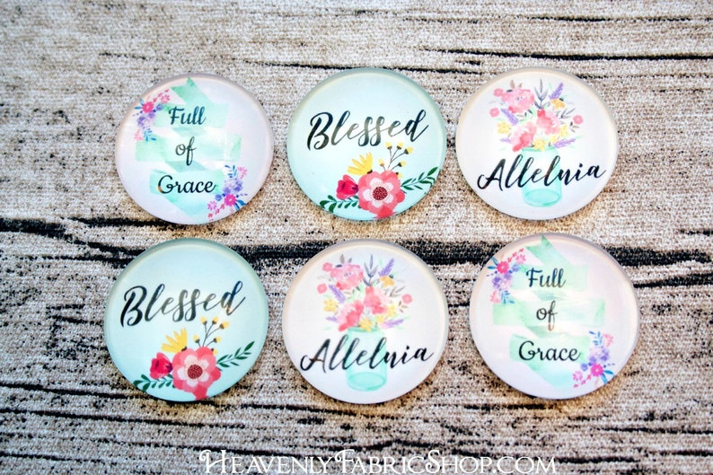 Faith Assortment Blessed Alleluia Full of Grace Floral Design image 0