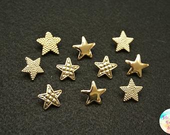 Gold Star Button Set