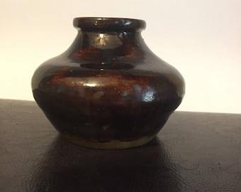 Chocolate brown vase