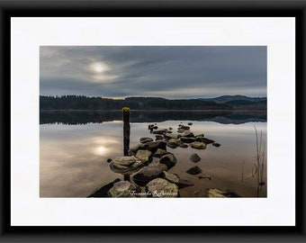Loch Ard Stone Jetty Unmounted / Mounted Print & Canvas framed wall decor gifts arts crafts