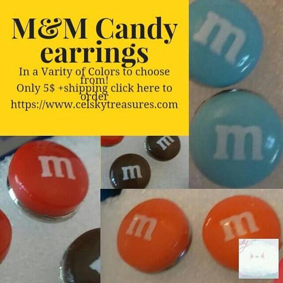 M&M Candy Earrings
