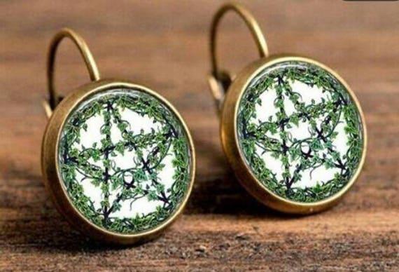 Wiccan earth earrings
