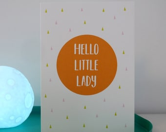 New Arrival Greetings Card - Baby Girl