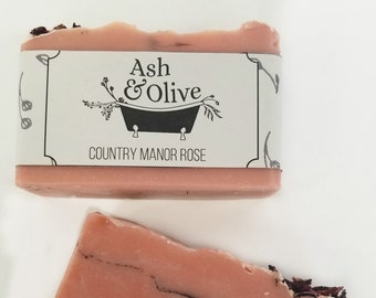 Country Manor Rose Artisan Soap - Artisan Soap - Luxury Soap Bar - Spa Gift - Mother's Day Gift