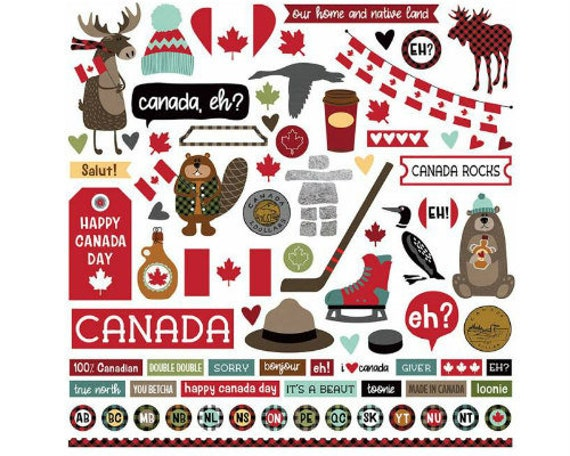 Scrapbook Stickers Photo Play O Canada Collection Travel Etsy