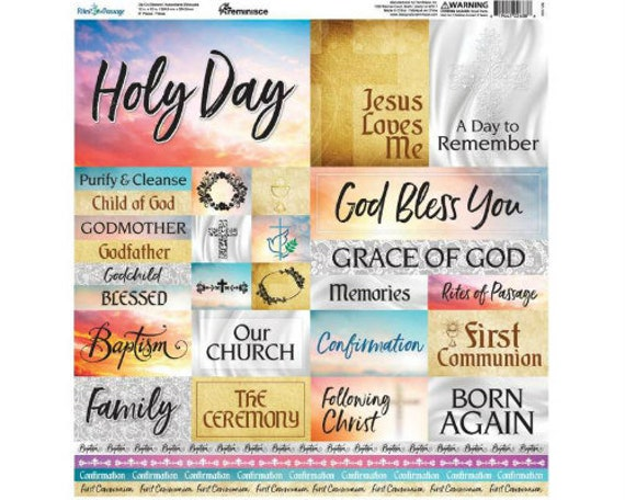 """Devoted Faith Poster Stickers 12/""""x12/"""""""