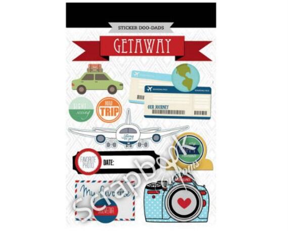 Scrapbook Stickers Scrapbook Customs Getaway Travel Etsy