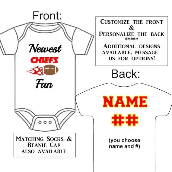 Newest Chiefs Fan Custom Made Personalized Gerber Onesie  19dbdd97c