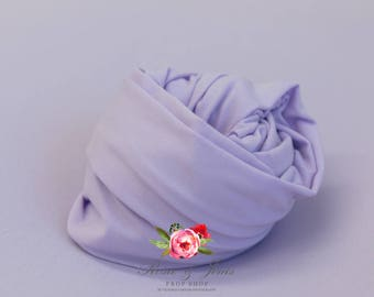 Stretch jersey wrap in lilac for newborn photography FREE UK Postage