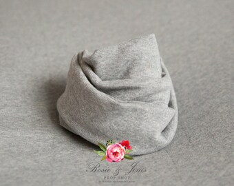 Stretch jersey wrap in grey for newborn photography FREE UK Postage