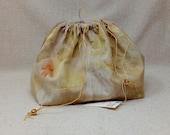 Eco print drawstring bag