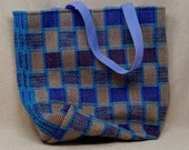 Cotton/hemp handwoven tote bag
