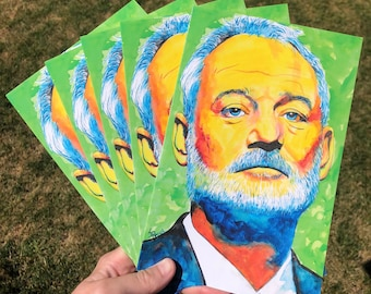 Bill Murray blank greeting cards with envelopes, 10 pack