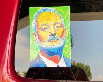 "3.5 x 5"" Bill Murray vinyl car decal"